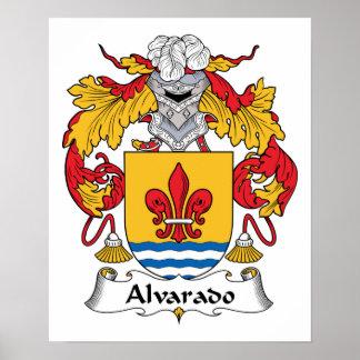 Escudo de la familia de Alvarado Poster