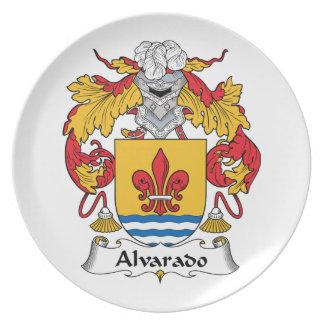 Escudo de la familia de Alvarado Plato De Cena
