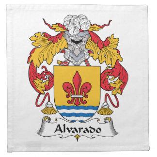 Escudo de la familia de Alvarado Servilleta Imprimida