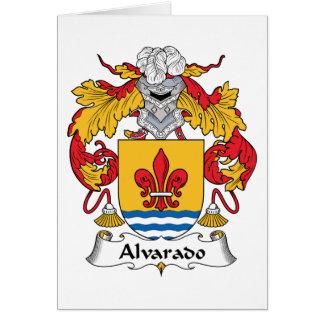 Escudo de la familia de Alvarado Tarjeton
