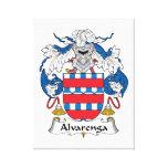 Escudo de la familia de Alvarenga Impresión En Lienzo Estirada