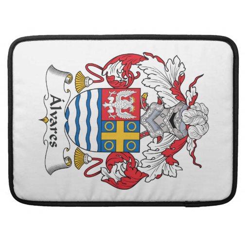 Escudo de la familia de Alvares Funda Macbook Pro