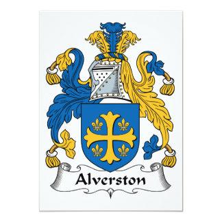 """Escudo de la familia de Alverston Invitación 5"""" X 7"""""""