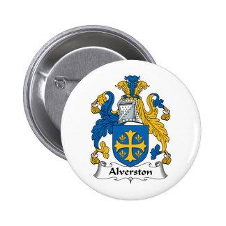 Escudo de la familia de Alverston Pin Redondo 5 Cm