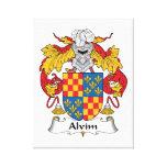 Escudo de la familia de Alvim Impresión En Lienzo Estirada