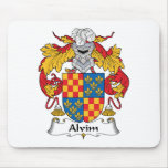 Escudo de la familia de Alvim Alfombrillas De Raton