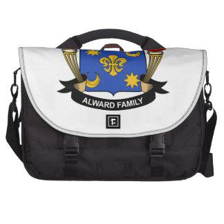 Escudo de la familia de Alward Bolsas De Portátil