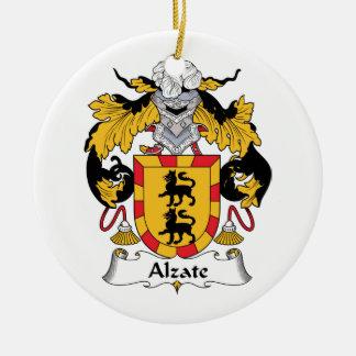 Escudo de la familia de Alzate Adorno Navideño Redondo De Cerámica