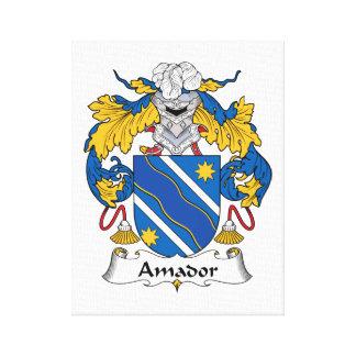 Escudo de la familia de Amador Lona Envuelta Para Galerias
