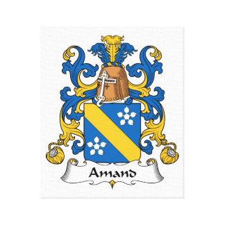 Escudo de la familia de Amand Impresión En Tela