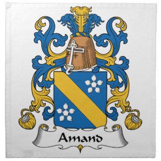 Escudo de la familia de Amand Servilletas Imprimidas