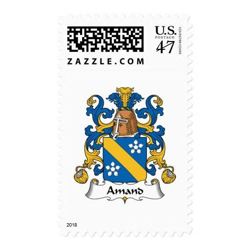 Escudo de la familia de Amand Timbres Postales