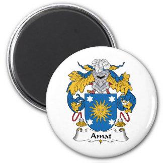 Escudo de la familia de Amat Imán Redondo 5 Cm