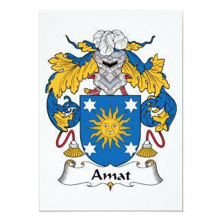 """Escudo de la familia de Amat Invitación 5"""" X 7"""""""