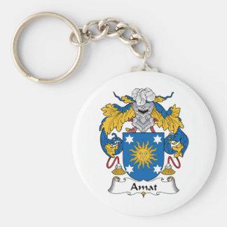 Escudo de la familia de Amat Llavero Redondo Tipo Pin