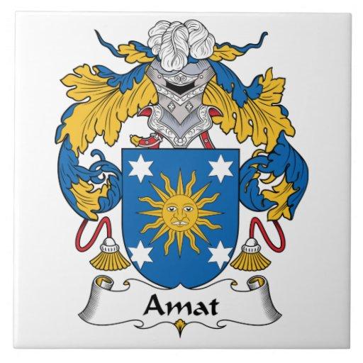 Escudo de la familia de Amat Teja Ceramica