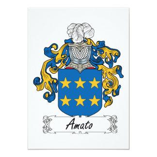 """Escudo de la familia de Amato Invitación 5"""" X 7"""""""