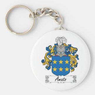 Escudo de la familia de Amato Llavero Redondo Tipo Pin