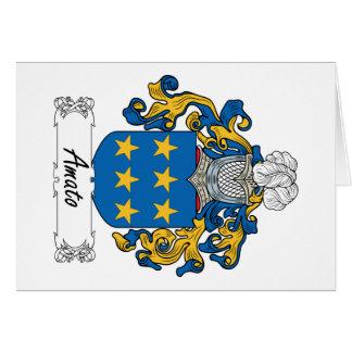 Escudo de la familia de Amato Tarjeta De Felicitación
