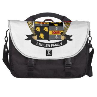 Escudo de la familia de Ambler Bolsa De Ordenador