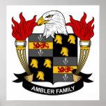 Escudo de la familia de Ambler Posters