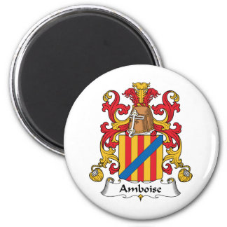 Escudo de la familia de Amboise Imán Redondo 5 Cm