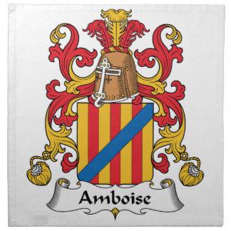 Escudo de la familia de Amboise Servilleta Imprimida