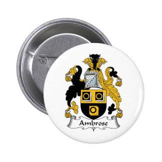 Escudo de la familia de Ambrose Pin Redondo 5 Cm