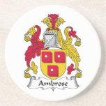 Escudo de la familia de Ambrose Posavasos Para Bebidas