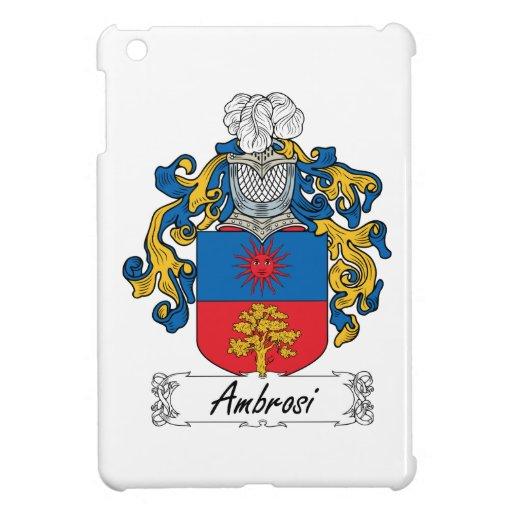 Escudo de la familia de Ambrosi iPad Mini Coberturas