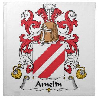 Escudo de la familia de Amelin Servilleta Imprimida