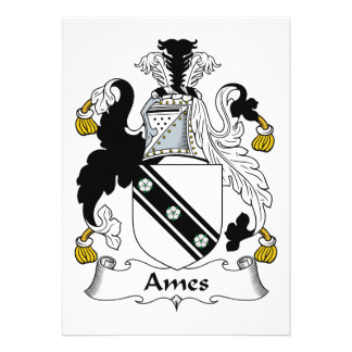 Escudo de la familia de Ames Invitacion Personalizada