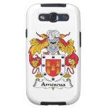 Escudo de la familia de Amescua Galaxy S3 Carcasa