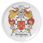 Escudo de la familia de Amescua Plato