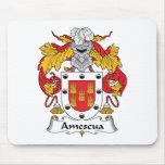 Escudo de la familia de Amescua Alfombrilla De Ratones