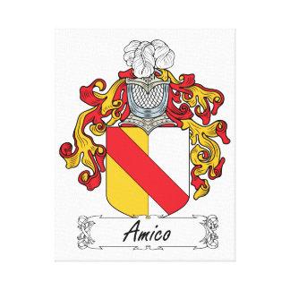 Escudo de la familia de Amico Impresión En Lona Estirada