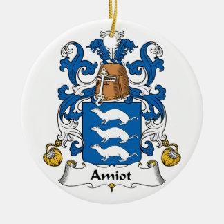 Escudo de la familia de Amiot Ornamento De Navidad