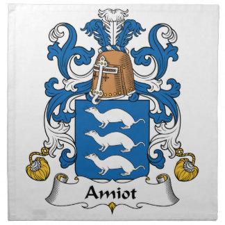 Escudo de la familia de Amiot Servilleta