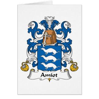 Escudo de la familia de Amiot Tarjeta De Felicitación