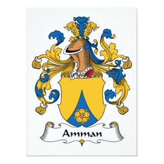 """Escudo de la familia de Amman Invitación 6.5"""" X 8.75"""""""