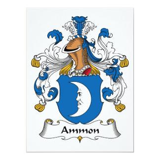 """Escudo de la familia de Ammon Invitación 6.5"""" X 8.75"""""""