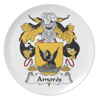 Escudo de la familia de Amoros Plato De Cena