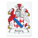 Escudo de la familia de Amory Invitación 12,7 X 17,8 Cm