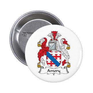 Escudo de la familia de Amory Pin Redondo 5 Cm