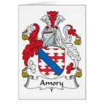 Escudo de la familia de Amory Tarjeta