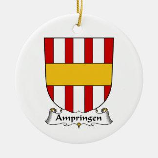 Escudo de la familia de Ampringen Adorno Navideño Redondo De Cerámica