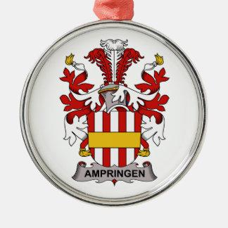 Escudo de la familia de Ampringen Adorno Redondo Plateado