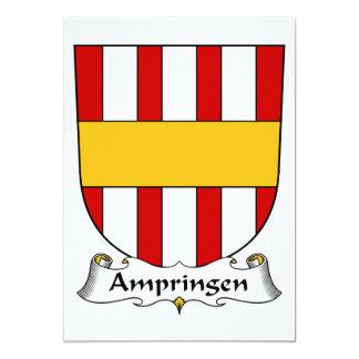 """Escudo de la familia de Ampringen Invitación 5"""" X 7"""""""