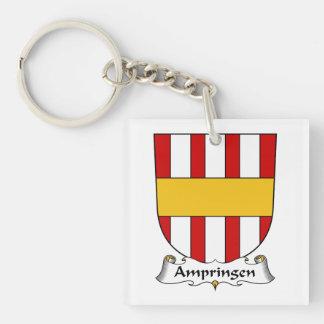 Escudo de la familia de Ampringen Llavero Cuadrado Acrílico A Una Cara