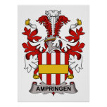 Escudo de la familia de Ampringen Posters